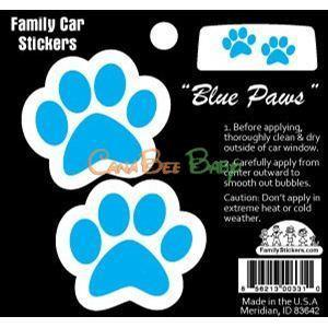 Family Car Stickers (Full Color) - Blue Paws - CanaBee Baby