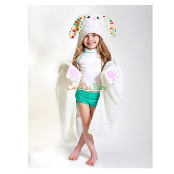 Zoocchini Toddler Hooded Towel Bella the Bunny - CanaBee Baby
