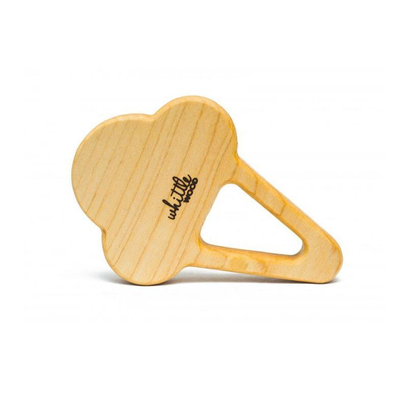 Whittle Wood Teether - Scoops - CanaBee Baby