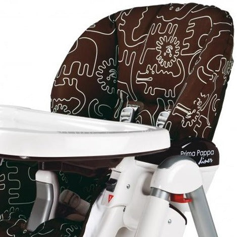 Peg Perego Replacement Seat Cover for Prima Pappa Diner High Chair - Savana Cacao