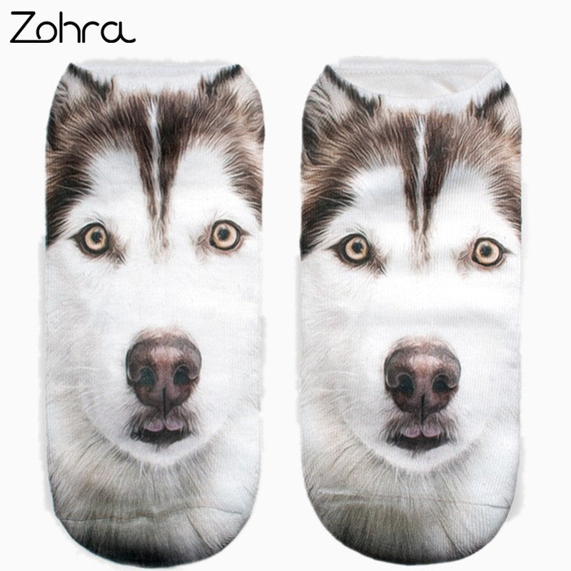 Huskies 3D Print Women Socks
