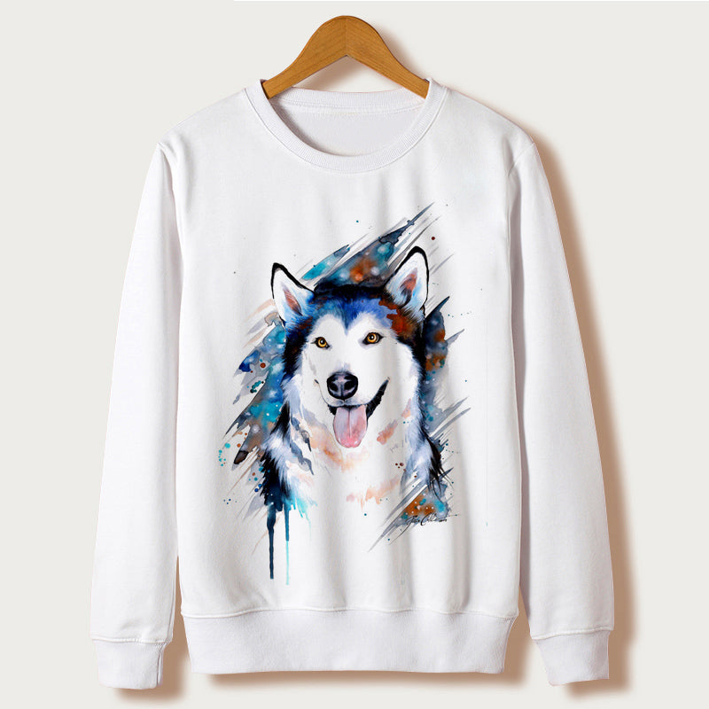 Huskies Casual Sweatshirt Women Hoodies