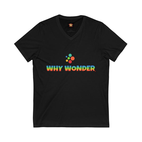 Why Wonder Unisex Jersey Short Sleeve V-Neck Tee