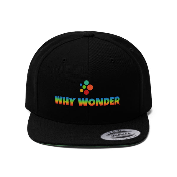 Why Wonder Unisex Flat Bill Hat