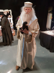 Needle Felted Niffler with Dumbledore at TimeQuake 2018
