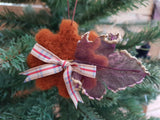 Steampunk needle felted cog tree decoration