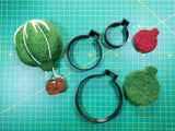 examples of needle felting shapes made from template set