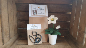 Christmas Rose, Needle Felting Kit, Templates & Tutorial