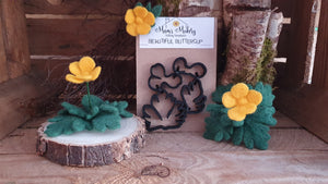 Beautiful Buttercup - Needle Felting Template Set & Full Tutorial