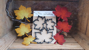 Sycamore Leaves - Needle Felting Template Set