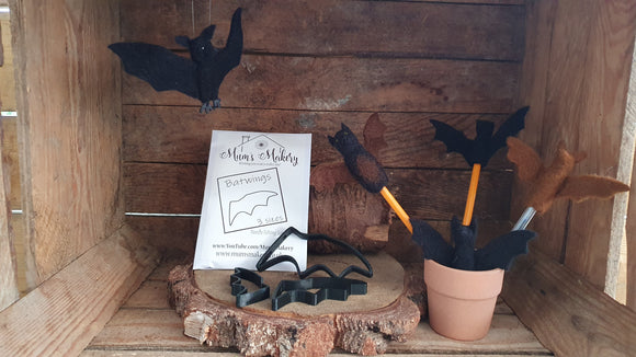 Bats and Batwings, Needle Felting Templates