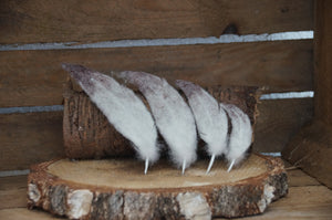 Needle felting feathers felted pointy feathers set