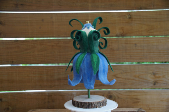 The Bluebelle Needle Felted Flower Fairy