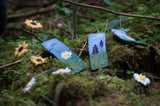 Needle felted bookmarks in woodland scene