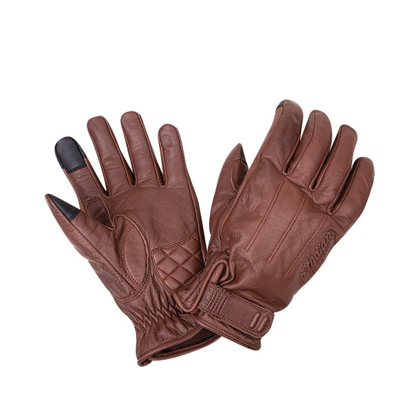 Men's Leather Getaway Riding Gloves Brown