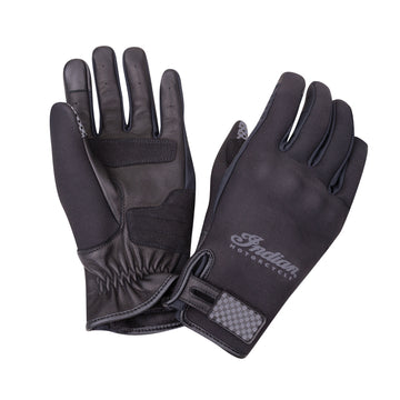 Neoprene Flat Track Riding Gloves -Black