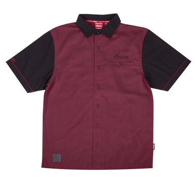 Men's Short-Sleeve Bomber Girl Shirt -Port