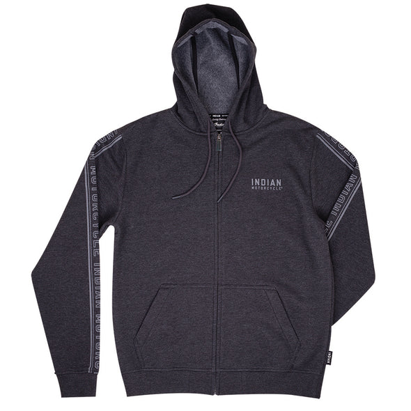 Men's Full-Zip Tonal Hoodie -Gray