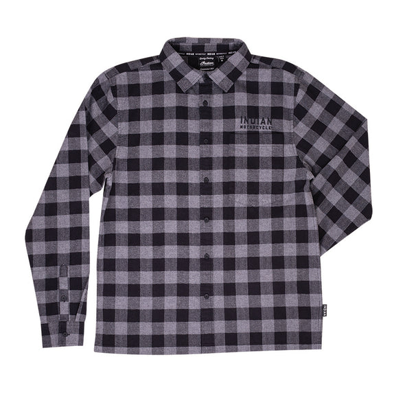 Men's Buffalo Plaid Shirt -Gray/Black