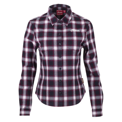 Women's Plaid Shirt -Port
