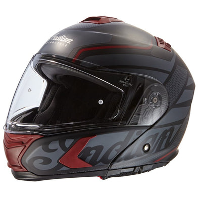 Full Face Matte Modular (Flip-Up) Helmet -Black