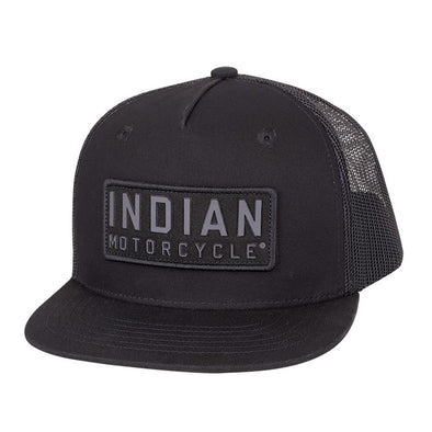 High Profile Felt Patch Hat -Black