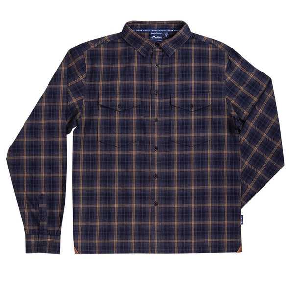 Men's Twin Pocket Plaid Shirt -Gray