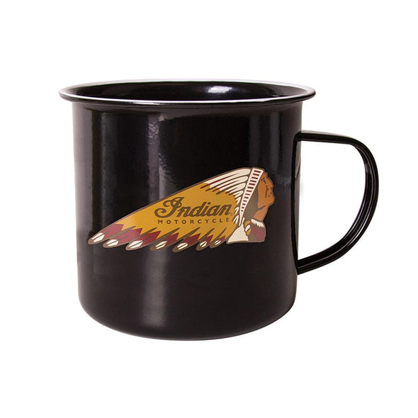 Indian Motorcycle Headdress Logo Mug -Black