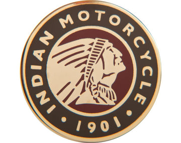 Indian Motorcycle Circle Icon Badge Pin