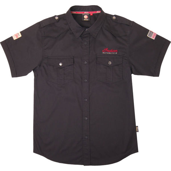 Men's Short-Sleeve Casual Shirt -Black