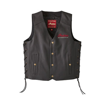 Men's Classic Leather Vest -Black by Indian Motorcycle®