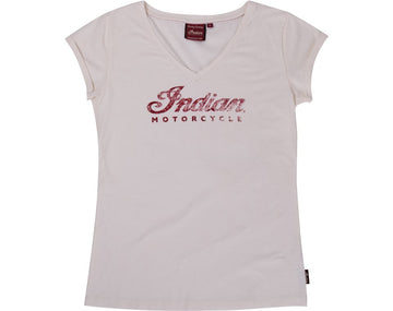 Womens Antique Logo V-Neck Tee by Indian Motorcycle®