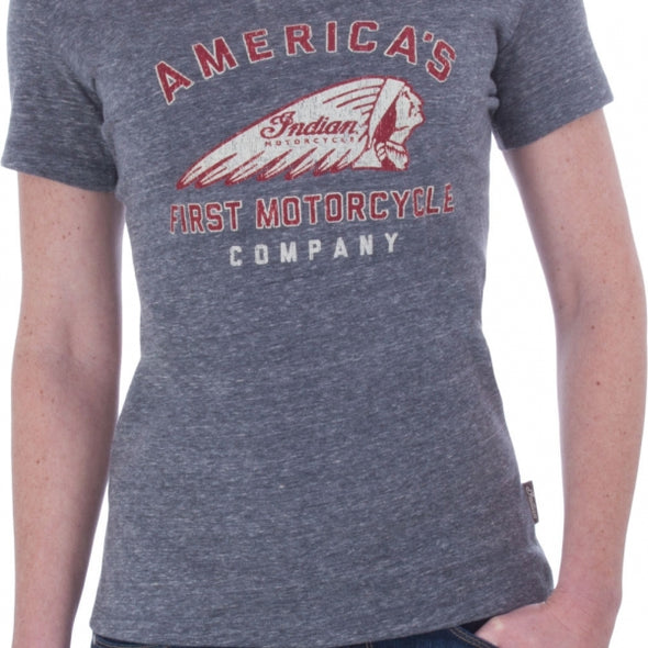 Womens First Tee- Gray by Indian Motorcycle®