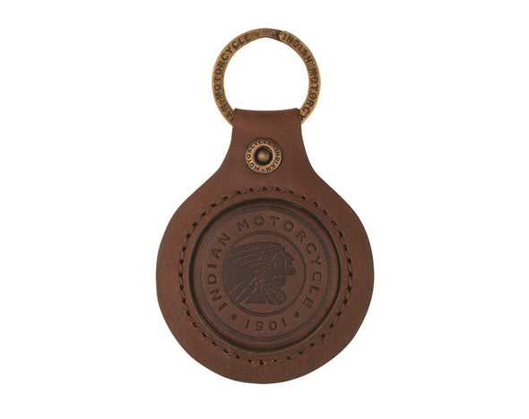 Brown Icon Leather Keyring