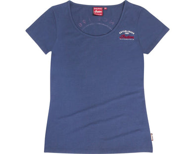Womens Navy Core Logo Tee by Indian Motorcycle®