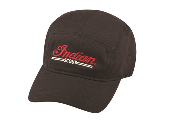 Mens Black 5 Panel Scout Hat by Indian Motorcycle