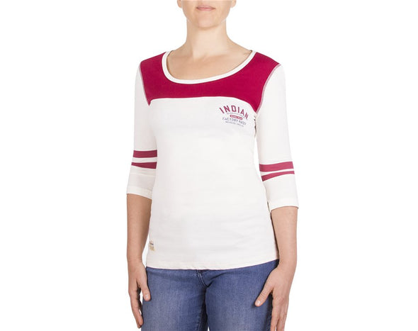 Women's Antique White/Red Racer Tee  by Indian Motorcycle®