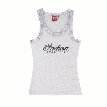 Women's Marl Logo Lace Tank by Indian Motorcycle®
