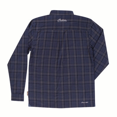 Men's Navy Plaid Shirt by Indian Motorcycle®