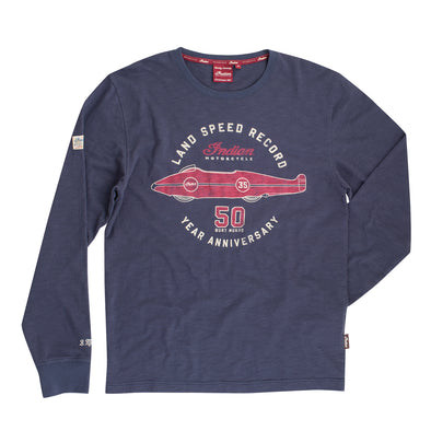 Men's Land Speed 50th Tee -Navy Size S *ONLY 3 LEFT*
