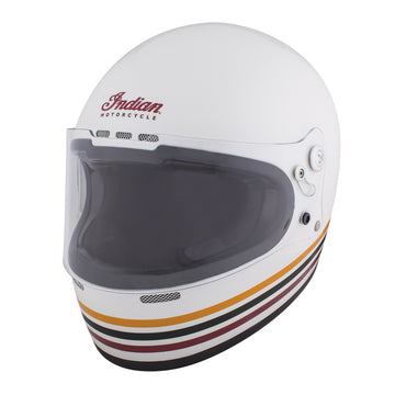 Retro Full Face Helmet with Stripes -White by Indian Motorcycle®