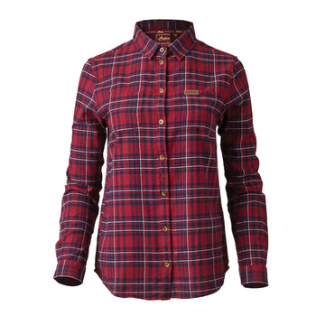 Women's Long Sleeve Red Plaid Shirt by Indian Motorcycle®
