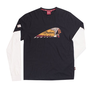 Men's Long Sleeve Headdress Tee by Indian Motorcycle®