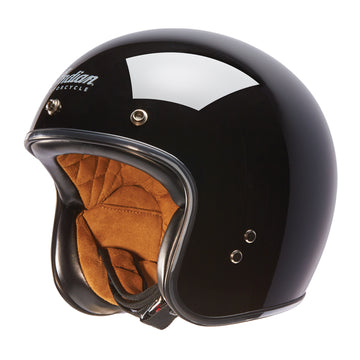 Open Face Retro Helmet -Glossy Black by Indian Motorcycle®