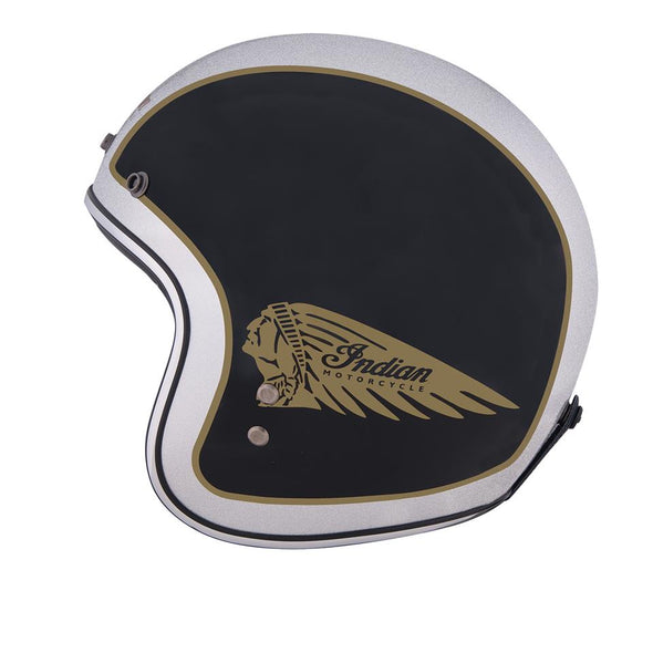 Two Tone Open Face Helmet, Black/Silver by Indian Motorcycle®