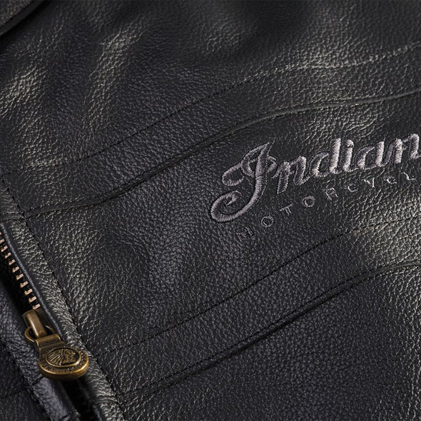 Men's Leather Beckman Riding Jacket with Removable Lining -Black