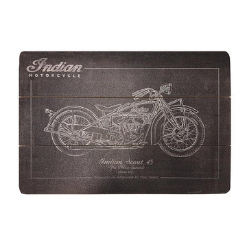 Indian Scout - Wooden Chalk Sign