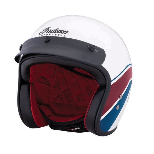 Retro Open Face Helmet - Stripe White by Indian Motorcycle®