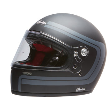 Full Face Retro Helmet with Matte Stripes -Black by Indian Motorcycle®