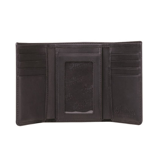 Tri-Fold Wallet Black Leather by Indian Motorcycle®